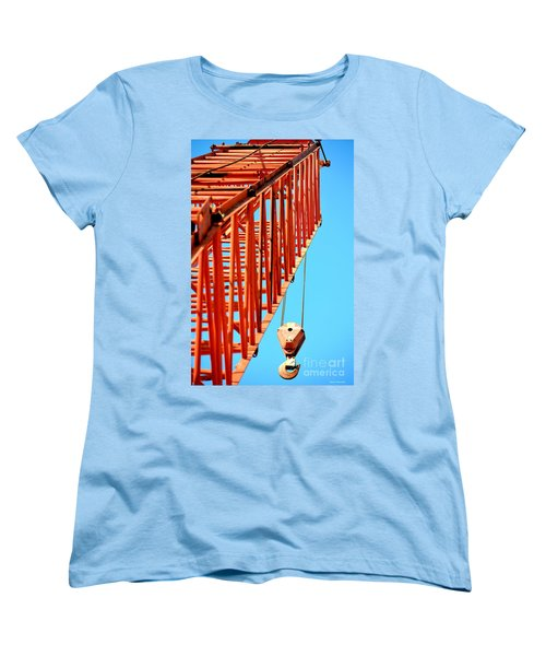 Manitowoc Red Boom Block And Hook Women's T-Shirt (Standard Cut) by Maria Urso