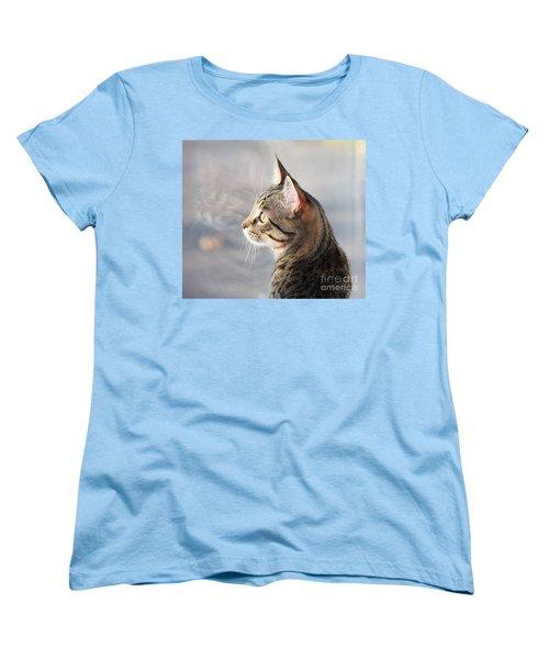 Women's T-Shirt (Standard Cut) featuring the photograph Many Faces Of Monty.. by Jolanta Anna Karolska