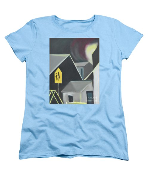 Maplewood Crossing Women's T-Shirt (Standard Cut) by Ron Erickson