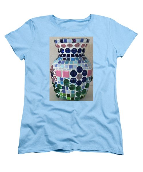 Women's T-Shirt (Standard Cut) featuring the glass art Marble Vase by Jamie Frier