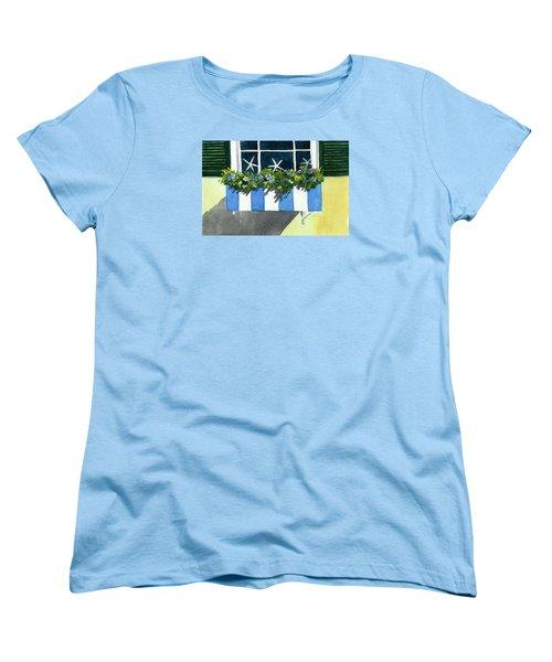 Marblehead Planter Box Women's T-Shirt (Standard Cut) by Anne Marie Brown