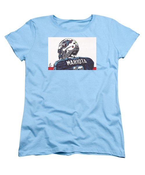 Marcus Mariota Titans 2 Women's T-Shirt (Standard Cut) by Jeremiah Colley