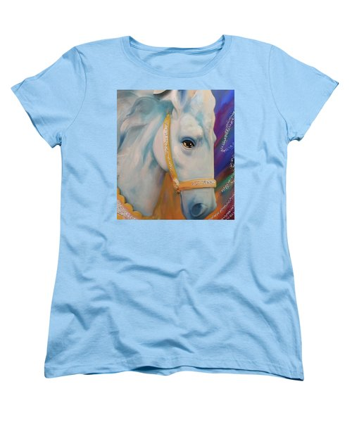Mardi Gras Horse Women's T-Shirt (Standard Cut) by Julianne Ososke