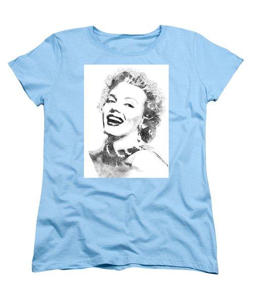 Marilyn Monroe Bw Portrait Women's T-Shirt (Standard Cut) by Mihaela Pater