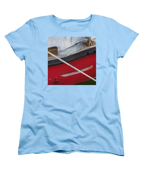 Women's T-Shirt (Standard Cut) featuring the photograph Marine Abstract by Charles Harden