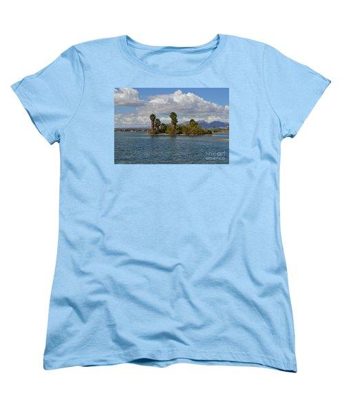 Marooned Palms Women's T-Shirt (Standard Cut) by Renie Rutten