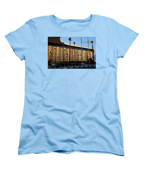 Women's T-Shirt (Standard Cut) featuring the photograph Marrakech Airport 1 by Andrew Fare