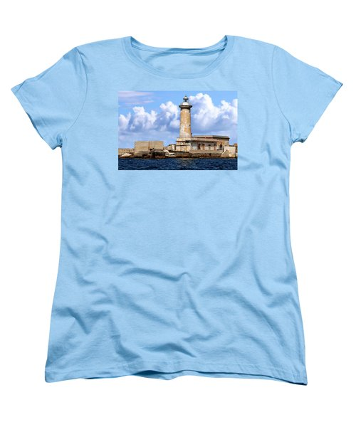 Marsala Lighthouse Women's T-Shirt (Standard Cut) by Anthony Dezenzio