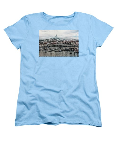 Marseilles France Harbor Women's T-Shirt (Standard Cut) by Alan Toepfer