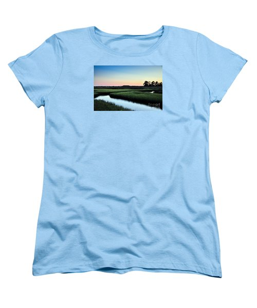 Marsh Sunset Women's T-Shirt (Standard Cut) by Debbie Green