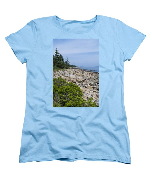 Marshall Ledge Looking Downeast Women's T-Shirt (Standard Cut) by Patrick Fennell