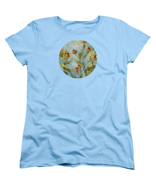 Women's T-Shirt (Standard Cut) featuring the painting Mary's Garden by Mary Wolf