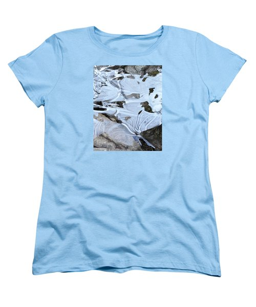 Women's T-Shirt (Standard Cut) featuring the photograph Ice Mask Abstract by Glenn Gordon