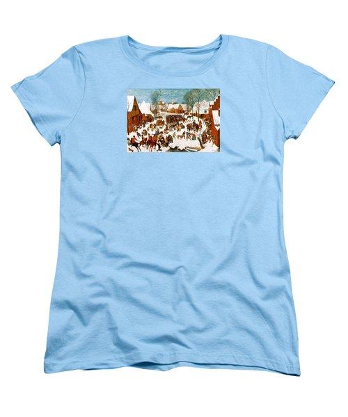 Massacre Of The Innocents Women's T-Shirt (Standard Cut) by Pieter Bruegel the Elder