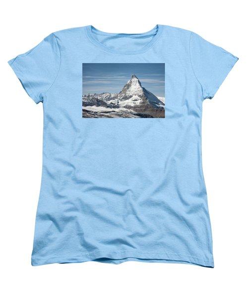 Matterhorn Women's T-Shirt (Standard Cut) by Marty Garland