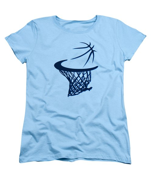 Mavericks Basketball Hoops Women's T-Shirt (Standard Cut) by Joe Hamilton