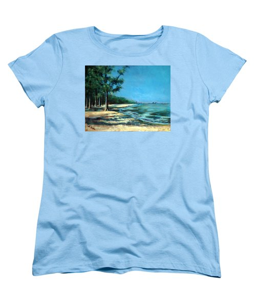 Women's T-Shirt (Standard Cut) featuring the painting Maybe A Picnic by Suzanne McKee