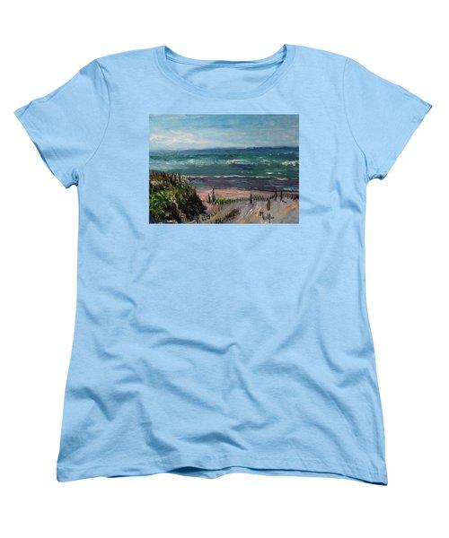 Mayflower Beach Women's T-Shirt (Standard Cut)
