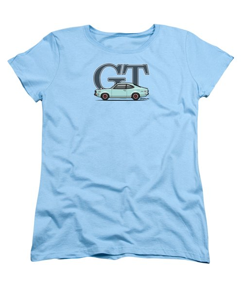 Mazda Savanna Gt Rx-3 Baby Blue Women's T-Shirt (Standard Cut) by Monkey Crisis On Mars