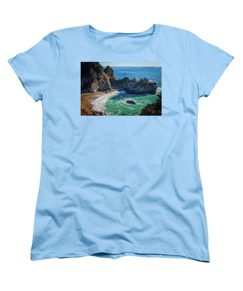 Mcway Falls Julia Pfieffer State Park Women's T-Shirt (Standard Cut) by James Hammond