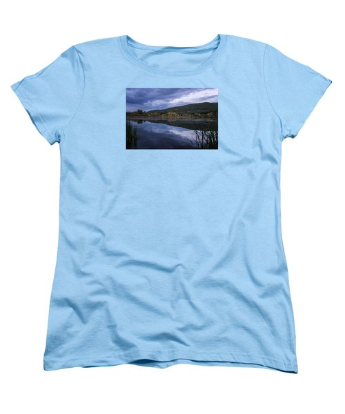 Women's T-Shirt (Standard Cut) featuring the photograph Meadows Dusk by Tom Singleton