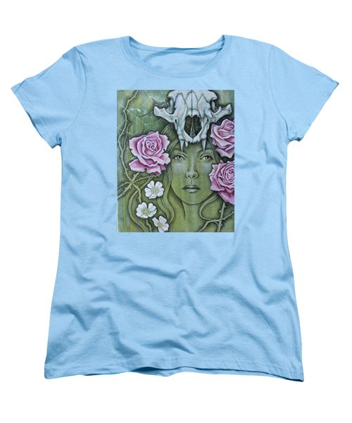 Women's T-Shirt (Standard Cut) featuring the mixed media Medicinae by Sheri Howe