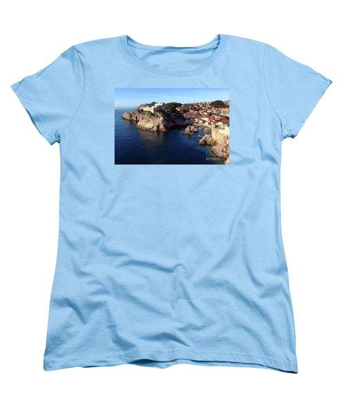 Medieval Fortresses Lovrijenac And Bokar Dubrovnik Women's T-Shirt (Standard Cut) by Jasna Dragun