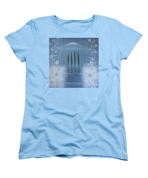 Women's T-Shirt (Standard Cut) featuring the painting Meditation by Tone Aanderaa