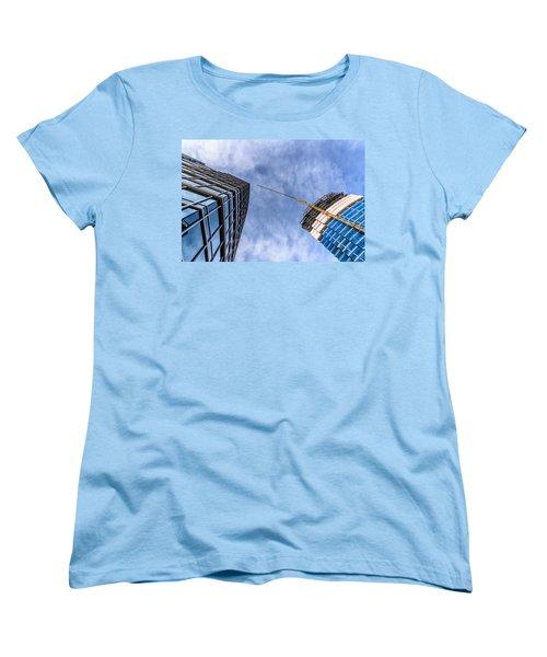 Meeting The New Neighbor Women's T-Shirt (Standard Cut) by Randy Scherkenbach
