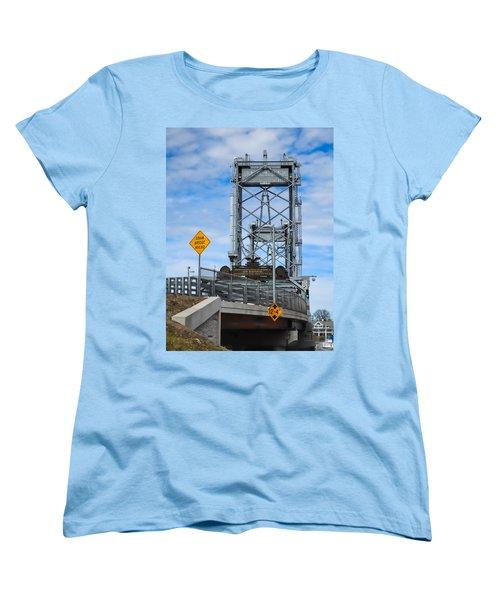 Memorial Bridge Portsmouth  Nh Women's T-Shirt (Standard Cut) by Nancy De Flon