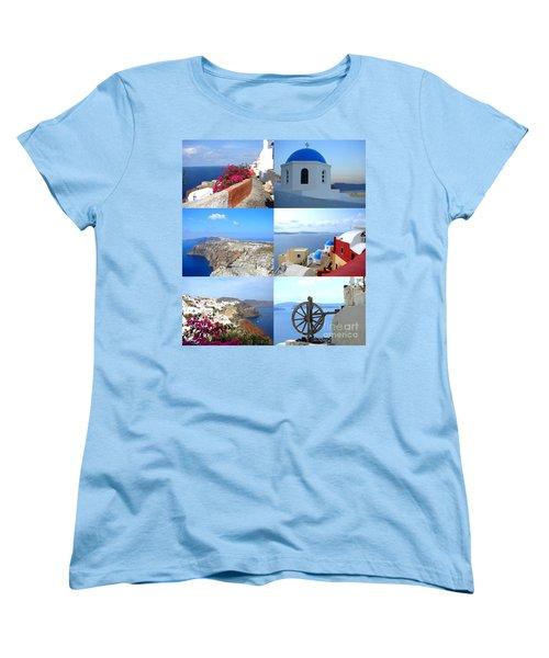 Women's T-Shirt (Standard Cut) featuring the photograph Memories From Santorini by Ana Maria Edulescu