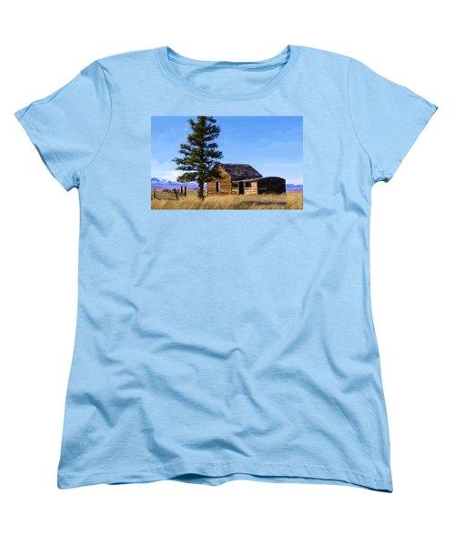 Memories Of Montana Women's T-Shirt (Standard Cut) by Susan Kinney