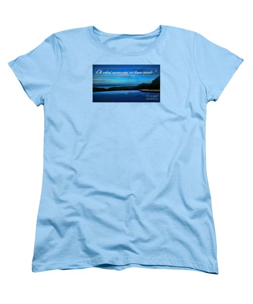 Women's T-Shirt (Standard Cut) featuring the photograph Memories We Have Made by Pamela Blizzard