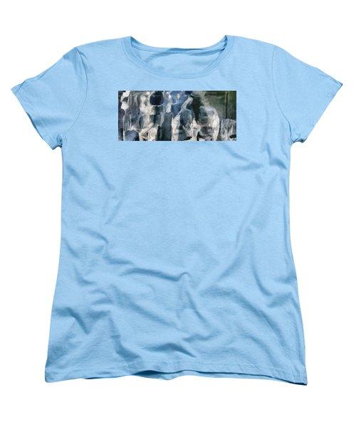 Memory Hotel - Dark Canvas Abstract Art Women's T-Shirt (Standard Cut) by Modern Art Prints