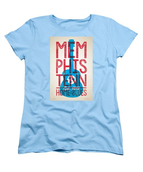 Memphis Tennessee - Home Of The Blues Women's T-Shirt (Standard Cut) by Jim Zahniser