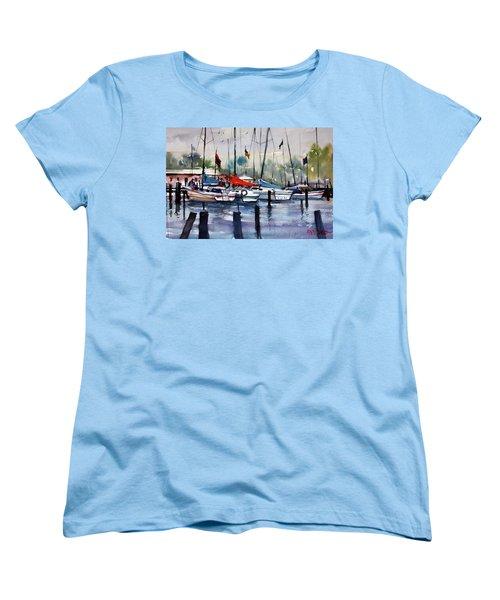 Menominee Marina Women's T-Shirt (Standard Cut) by Ryan Radke