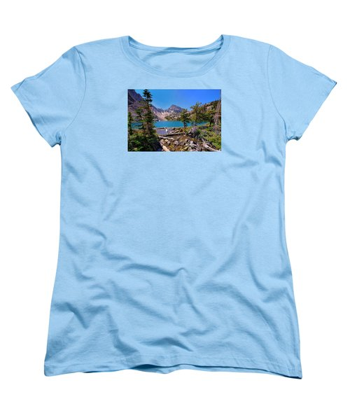 Women's T-Shirt (Standard Cut) featuring the photograph Merriam Lake by Greg Norrell