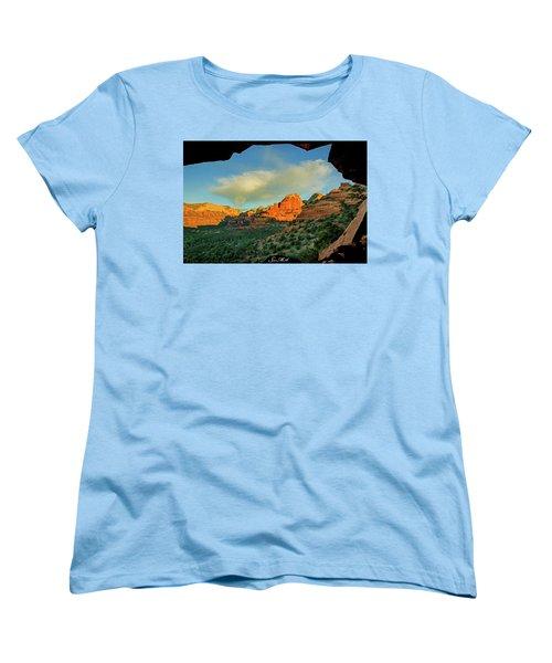 Mescal Mountain 04-012 Women's T-Shirt (Standard Cut) by Scott McAllister