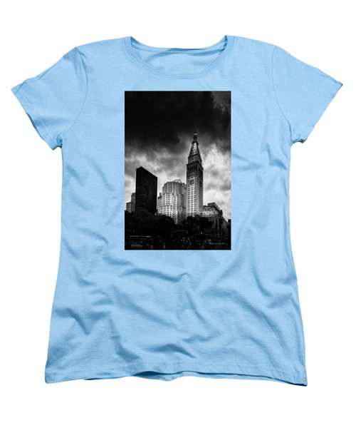 Women's T-Shirt (Standard Cut) featuring the photograph Met-life Tower by Marvin Spates
