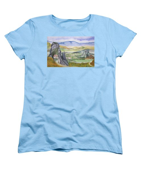 Meteora Women's T-Shirt (Standard Cut) by Teresa Beyer