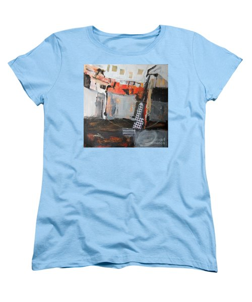 Women's T-Shirt (Standard Cut) featuring the painting Metro Abstract by Ron Stephens
