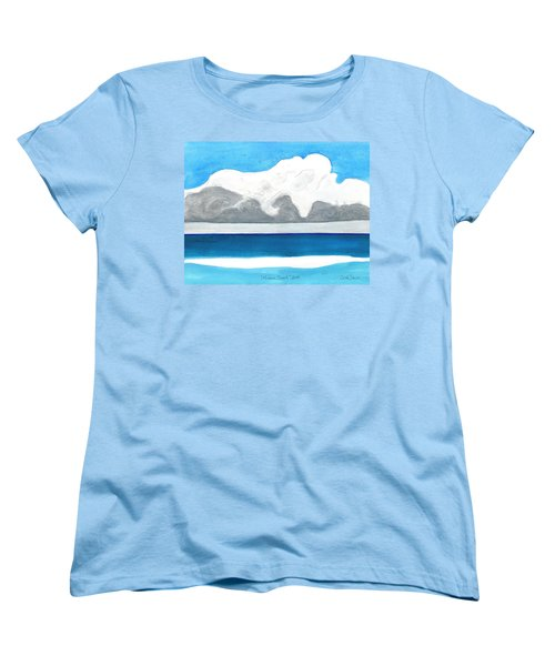 Women's T-Shirt (Standard Cut) featuring the painting Miami Beach, Florida by Dick Sauer