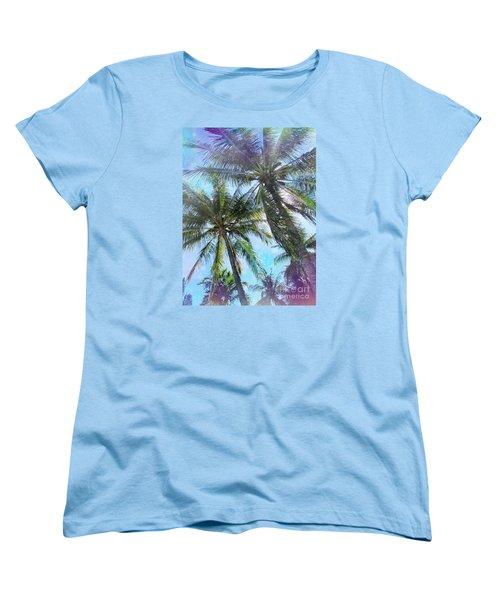 Miami Palm Trees Women's T-Shirt (Standard Cut) by France Laliberte