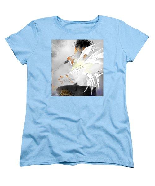Michael Jackson 08 Women's T-Shirt (Standard Cut) by Miki De Goodaboom