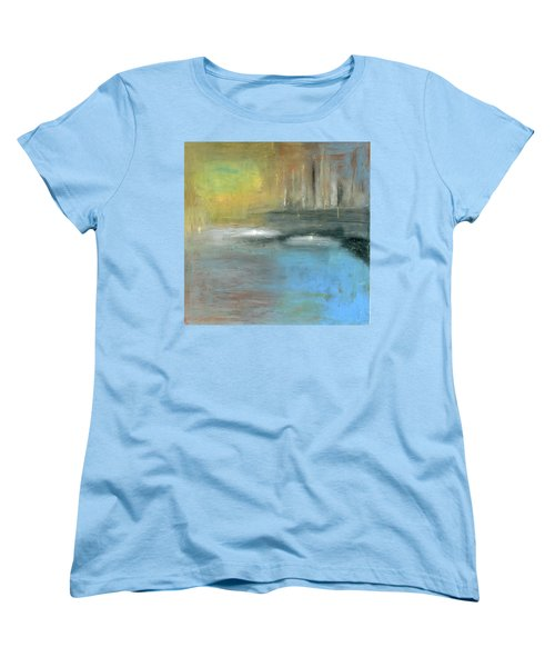 Women's T-Shirt (Standard Cut) featuring the painting Mid-summer Glow by Michal Mitak Mahgerefteh