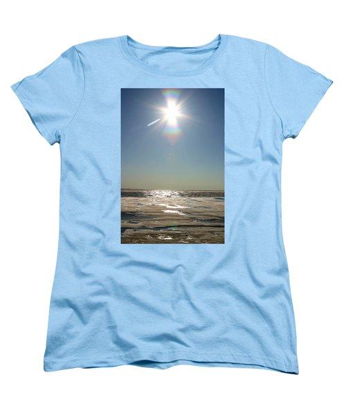Midnight Sun Over The Arctic Women's T-Shirt (Standard Cut)