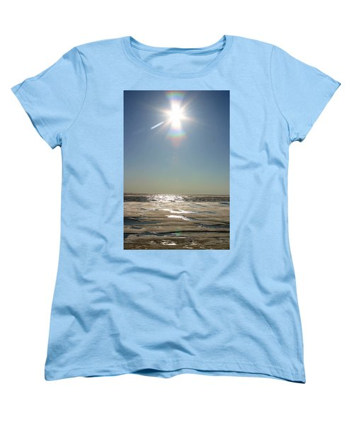 Midnight Sun Over The Arctic Women's T-Shirt (Standard Cut) by Anthony Jones