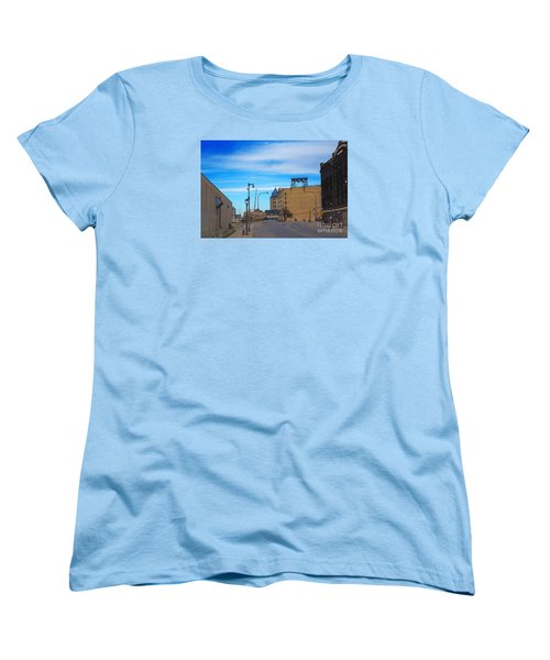 Women's T-Shirt (Standard Cut) featuring the digital art Milwaukee Cold Storage Co by David Blank
