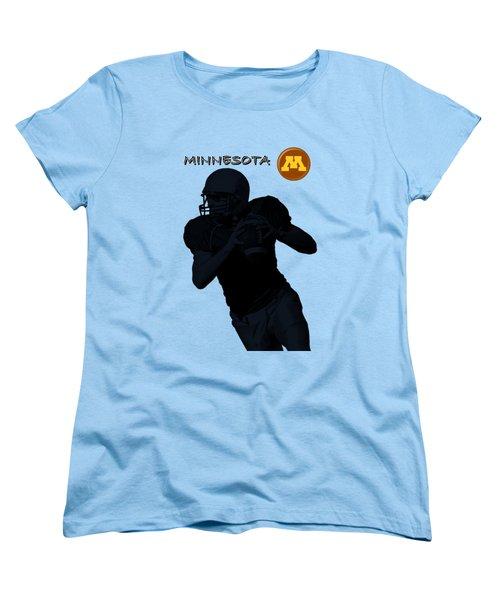 Minnesota Football Women's T-Shirt (Standard Cut) by David Dehner