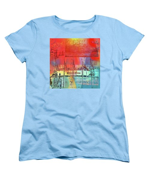 Women's T-Shirt (Standard Cut) featuring the photograph Minnesota Vikings Art by Susan Stone